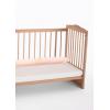 Boncuk Silikon Bebek Yastığı 200x14 cm Bebek Beşik Koruma Yastığı TDRK21_Açık Pudra